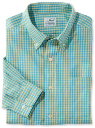 L.L. Bean L.L.Bean Wrinkle-Free Vacationland Sport Shirt, Slightly Fitted Gingham