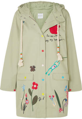 Mira Mikati Embroidered Cotton-twill Jacket - Army green