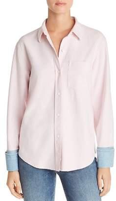 Current/Elliott The Victor Denim-Cuff Shirt