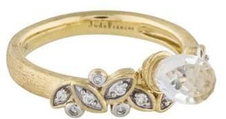 Jude Frances 18K Diamond & Topaz Cocktail Ring