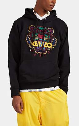 90836580 Kenzo Men's Tiger-Embroidered Cotton Hoodie - Black