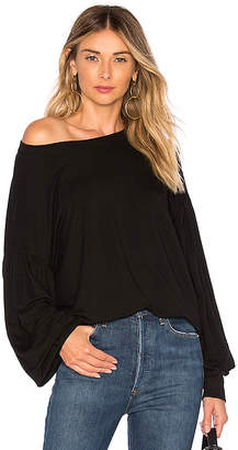 Bobi Exaggerated Sleeve Top