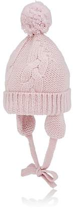 Barneys New York Kids' Pom-Pom Cashmere Hat - Pink