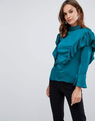 Closet London frill shoulder blouse
