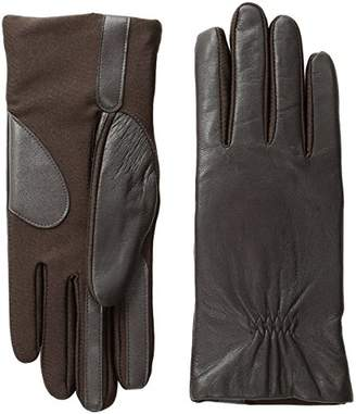 Isotoner Women's Stretch Leather Touchscreen Texting Cold Weather Gloves with Warm Fleece Lining