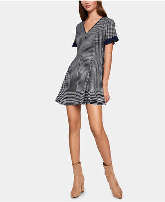 BCBGeneration Herringbone-Print Fit & Flare Dress
