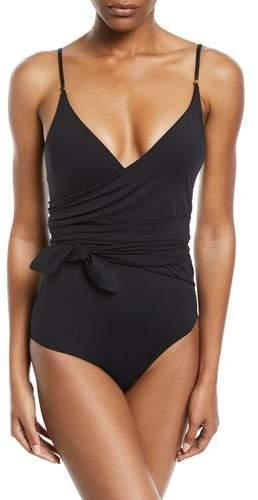Stella McCartney Timeless Basics Wrap One-Piece Swimsuit