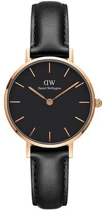 Daniel Wellington Women's DW00100224 Classic Petite Sheffield in Black 28mm Watch