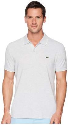 Lacoste Short Sleeve Solid Textured Slub Pique Regular Men's Short Sleeve Pullover