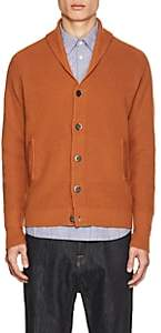 Barena Venezia Men's Chunky Rib-Knit Wool Cardigan - Orange