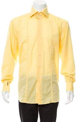 Couture Billionaire Italian Woven Button-Up Shirt