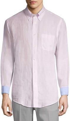 Brooks Brothers Linen Striped Sport Shirt