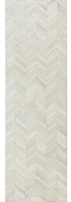 Trent Austin Design Wright Cow Hide White Area Rug Rug