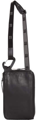 11 By Boris Bidjan Saberi Black Leather Zip Around Travel Pouch