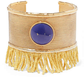 Aurelie Bidermann Azzura Gold-plated Resin Cuff - Blue