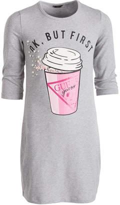 GUESS Big Girls Embellished Coffee Dress