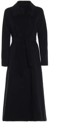Max Mara Didone Virgin Wool Fleece Long Wrap Coat