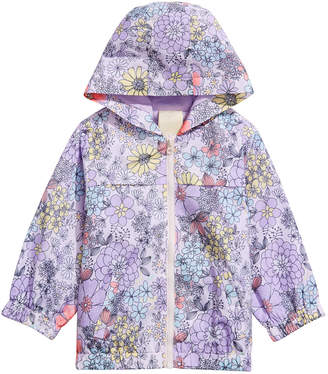 09cc55e3 First Impressions Baby Girls Floral-Print Hooded Windbreaker Jacket