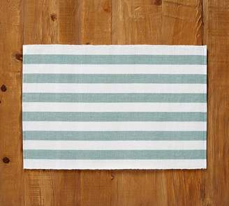 Pottery Barn Raney Bold Stripe Placemat, Set of 4 - Aqua