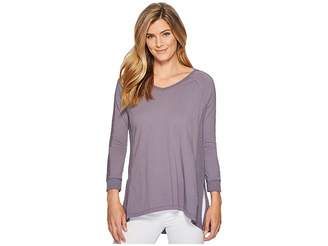 Mod-o-doc Supreme Jersey Lace Inset V-Neck T-Shirt