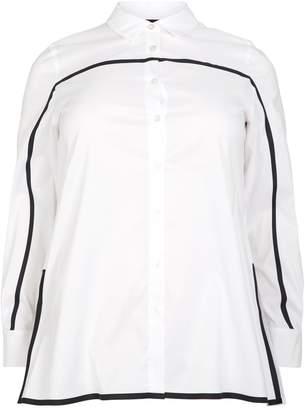 Marina Rinaldi Contrasting Stripe Trim Shirt
