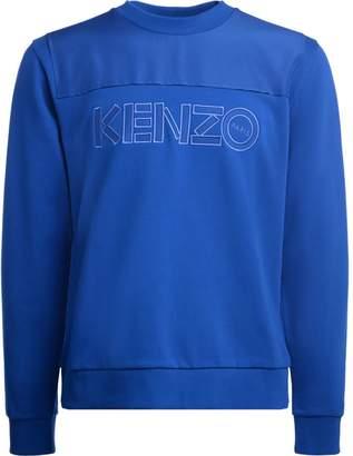 Kenzo Cotton And Nylon Electric Blue Sweatshirt