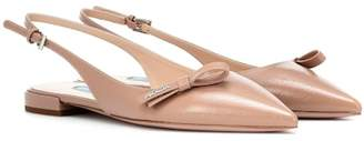 Prada Leather slingback ballet flats