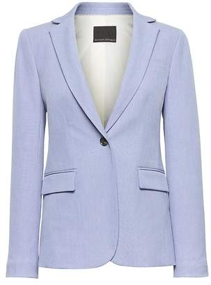 Banana Republic Long and Lean-Fit Machine-Washable Birdseye Blazer