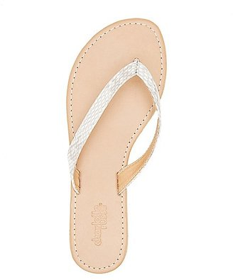 Faux Snakeskin Thong Sandals $0.99 thestylecure.com
