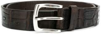 Orciani embossed alligator style belt