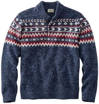 L.L. Bean L.L.Bean Classic Ragg Wool Fair Isle Henley Sweater