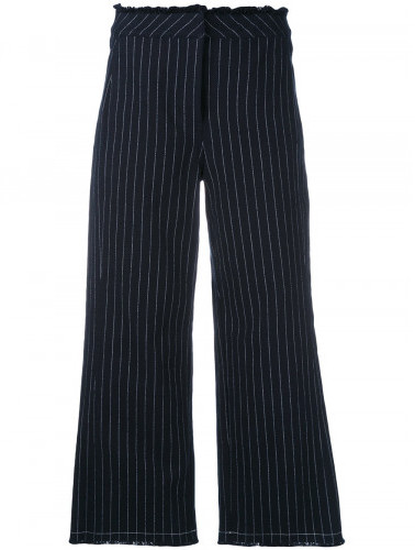 Alexander Wang T By Alexander Wang cropped pinstriped trousers