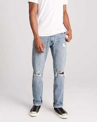 Abercrombie & Fitch Ripped Straight Jeans