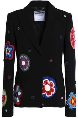 Moschino Embellished Crepe Blazer