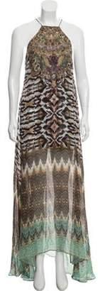 Camilla Silk Abstract Print Dress Brown Silk Abstract Print Dress