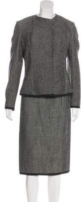 Narciso Rodriguez Wool Tweed Skirt Suit