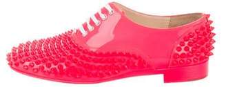 Christian Louboutin Neon Spiked Oxfords
