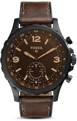 Fossil Nate Brown Hybrid Smartwatch, 50mm