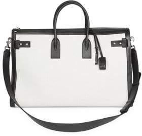 Saint Laurent Portadoll Leather Briefcase