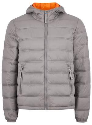 Topman Mens Grey Gray Hooded Liner Jacket