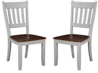 Imagio Home Small Space Dining collection by Intercon - Slat Back Side Chair - (Set of 2)
