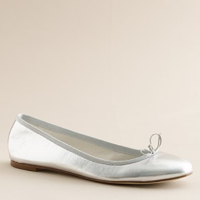 Marjorie metallic leather ballet flats