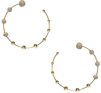 Rebecca Minkoff Pave Floating Ball Hoops