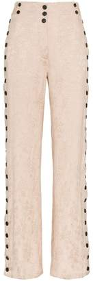 Ann Demeulemeester rosalia old rose trousers