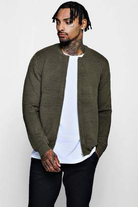 boohoo Zip Through Knitted Bomber