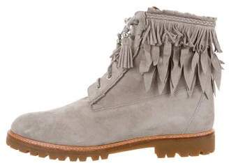 Aquazzura Suede Heilbrunner Ankle Boots