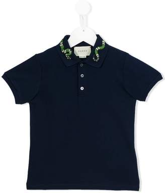 Gucci Kids snake polo shirt