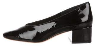Loeffler Randall Patent Leather Round-Toe Pumps