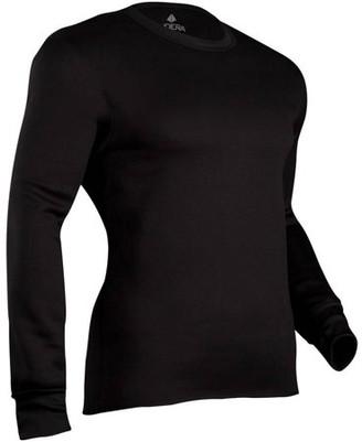 INDERA Men's Military Weight Fleeced Polyester Crew Shirt