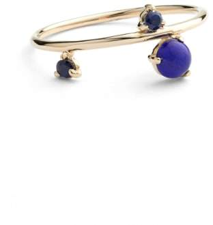 Lapis WWAKE Counting Collection Three-Step Balloon & Sapphire Ring